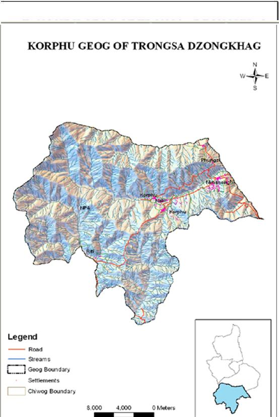 korphu-gewog-map